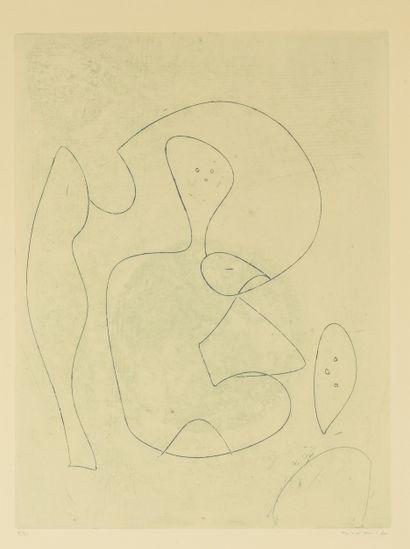 Max ERNST (1891-1976)  Sans titre, 1962  Eau-forte...