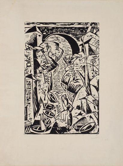 Moïse KISLING (1891-1953)  Le Port  Bois...