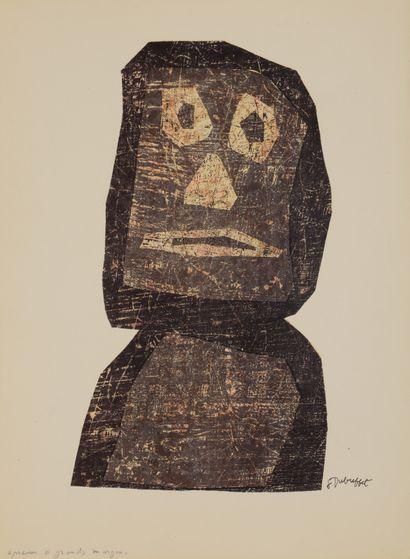 Jean DUBUFFET (1901-1985)  Le Guerrier, 1958...