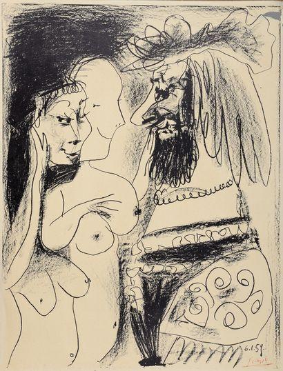 Pablo PICASSO (1881-1973)  Le Vieux Roi,...