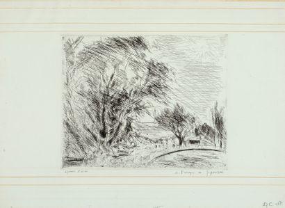 André DUNOYER DE SEGONZAC (1884-1974)  La...
