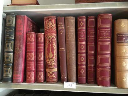 Lot de volumes XIXe dont Viollet Leduc, Figuie,...