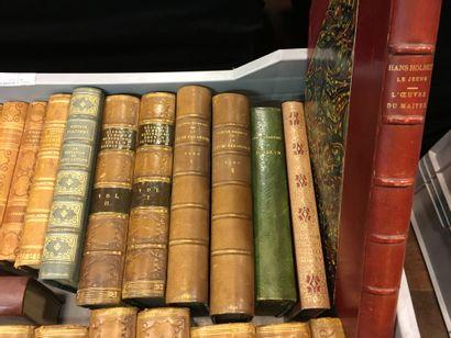 Manette de volumes reliés dont Rabelais,...