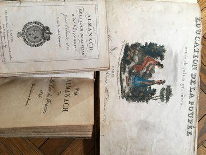 Almanach de la cour 1822 reliure en maroquin...
