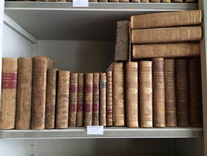 Lot de volumes reliés XVIIIe et XIXe Chateaubriand,...