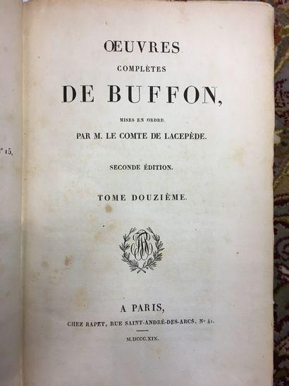 BUFFON. Oeuvres, Paris ; LOT EN IMPORTATION...