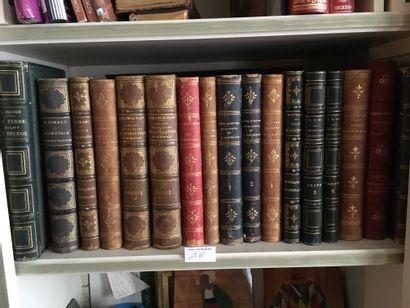 Lot de volumes XIXe Figuier, Mathématiques,...