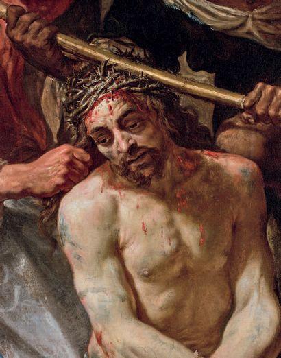 Jacques de l'ANGE The Coronation of Thorns Canvas. 193 x 158 cm Provenance: Vente...
