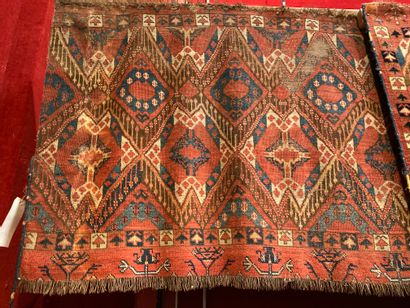 Four Persian carpets (bad condition) 80x...