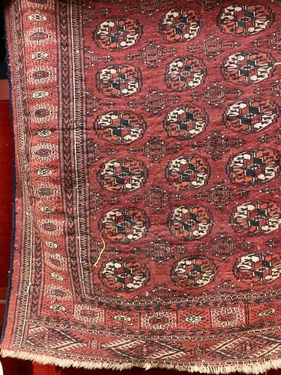 Bukhara carpet red background approx. 200...