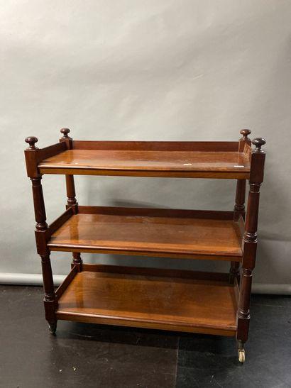English style mahogany veneer sideboard  XIXth...