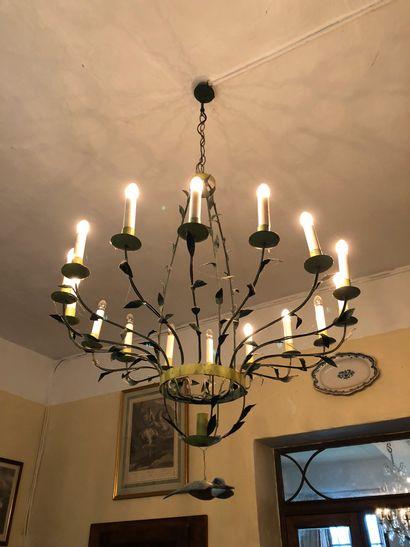 Stylish sheet metal chandelier