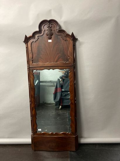 Trumeau with carved wood mirror decoration...