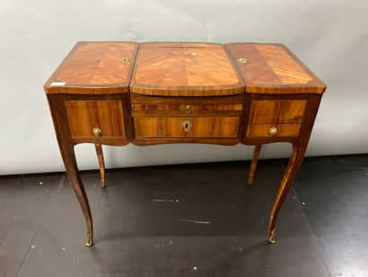 Dressing table made of wood and veneer on...