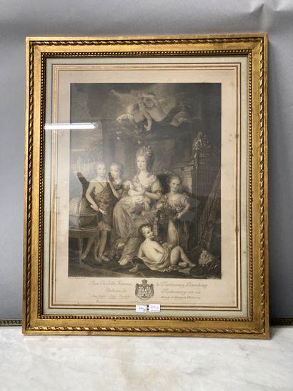 D'après Boenner, daté 1777  Portrait d'Anne...
