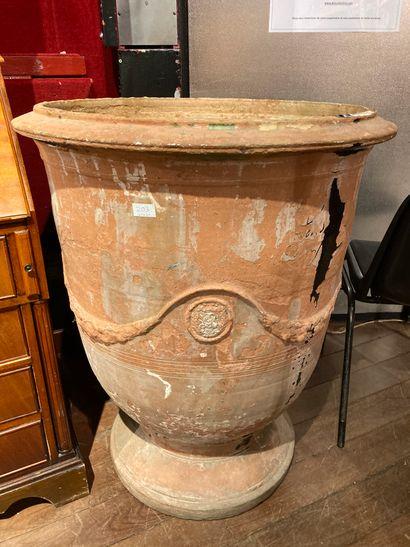 Large Anduze vase XIXth century (wear and...
