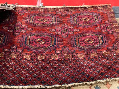 Two Bukhara saddle pads approx. 47 x 108...