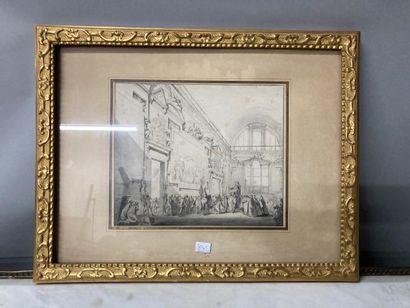 Ecole italienne vers 1800  Réception d'un...