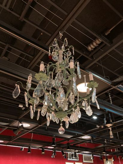 Chandelier with wrought iron pendants 19th...