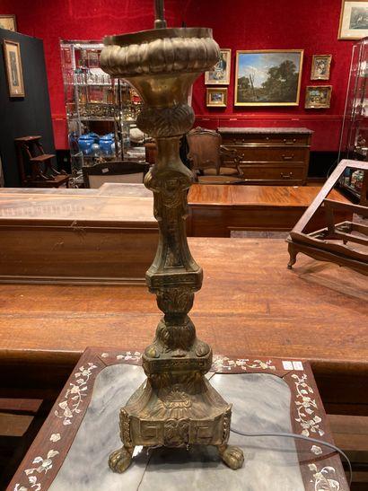 Set comprising: pair of mounted brass crucifixes,...