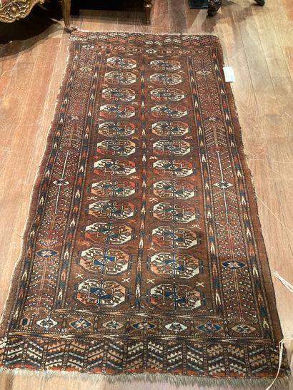 Carpet Bukhara brown background wears 200...