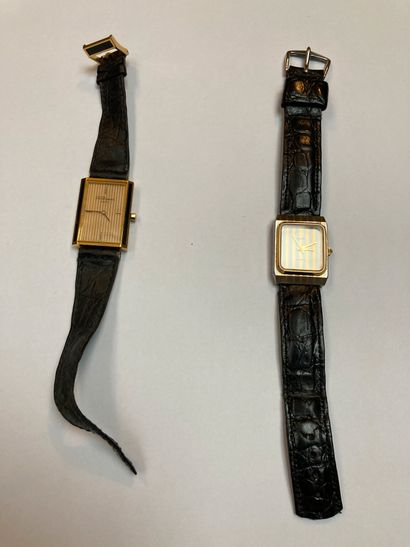 Batch of two watches The first Dupont Paris...