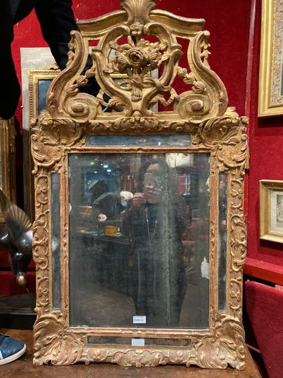 Gilded wood mirror Model Louis XIV 73 x...