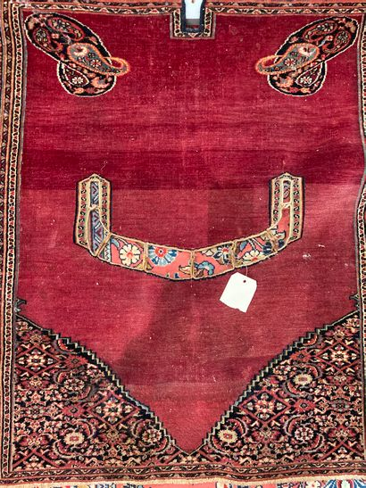 An embroidered saddle pad 95 x 80 cm wears...