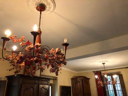 Pair of decorative chandeliers