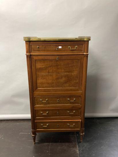 Small mahogany secretary  Louis XVI style...