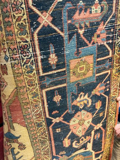 Persian carpet, central medallion, cream...