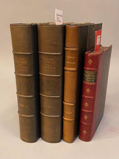 [ALGÉRIE]. Réunion de 3 ouvrages.  BLANC....