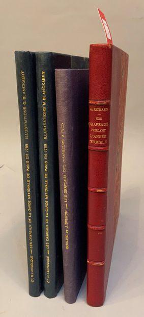 [DRAPEAUX]. Réunion de 3 ouvrages.  LACHOUQUE....