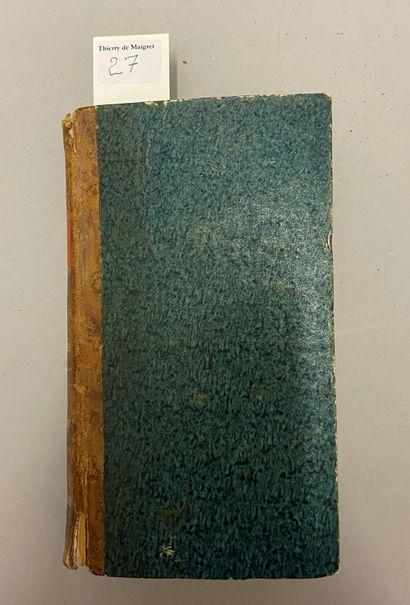 CARNET de la SABRETACHE, 1893-1968. Demi-percaline...