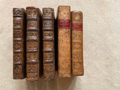 Ensemble de cinq volumes  La Pierre de touche...