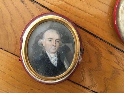 Ecole FRANCAISE vers 1810  Portrait d'homme...