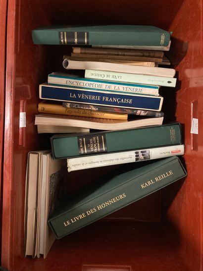 Caisse de livres Le Cheval, Venerie, Chateaux......
