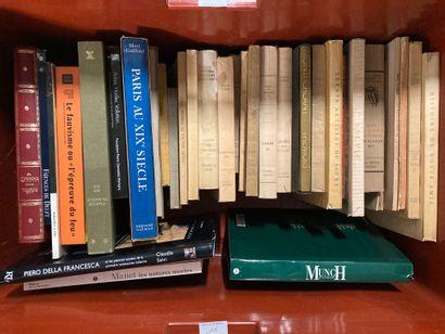 Mannette de livres d'art, livres brochés,...