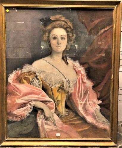 Attribué à François Flameng  Portrait de...