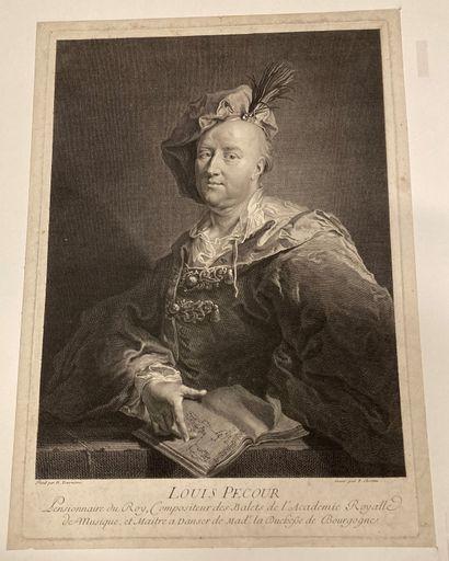 François CHEREAU (1680-1729) Louis Pécourt, composer of the ballets of the Royal...