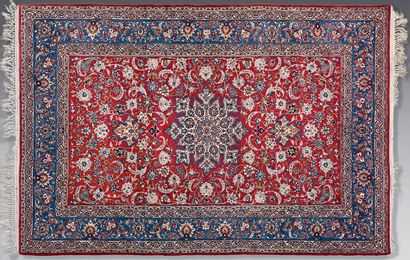 Pair of carpets with central medallion on...