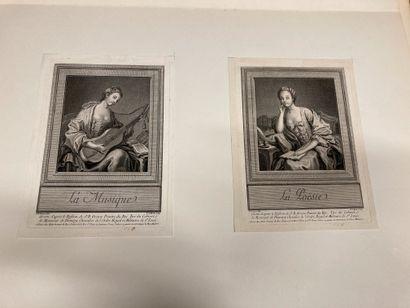 François-Auguste MOITTE (1748-1790) d'après Poetry Music Two plates after J. B. Greuze....