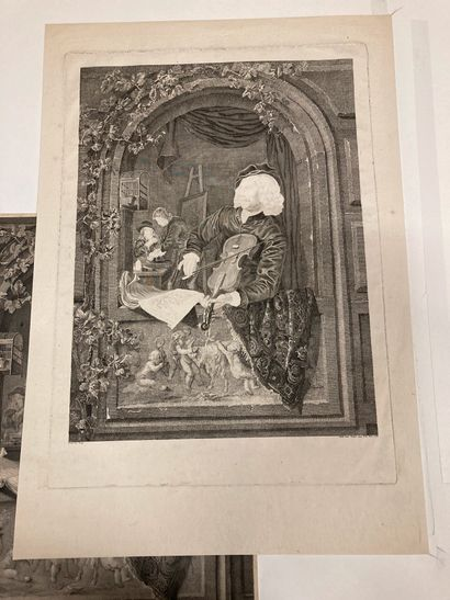 Gérard DOU (1613-1675) d'après G. Dou seen at an open window playing the violin or...