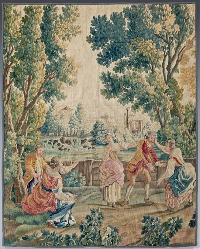 Tapestry illustrating the game of Colin-Maillard,...