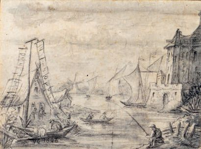 École HOLLANDAISE du XVIIe siècle, suiveur de Jan van GOYEN