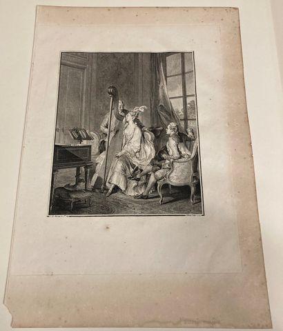 Jean-Michel MOREAU LE JEUNE (1741-1814) d'après The Perfect Agreement Engraved by...