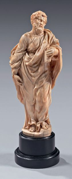 Beautifully carved ivory statuette in the...