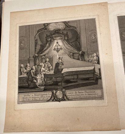 Charles EISEN (1720-1778) d'après Concert méchanique ou Automate musical invented...