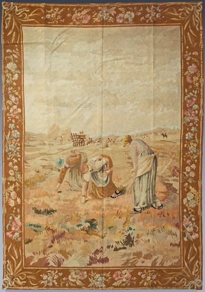Tapestry representing the Gleaners made after...