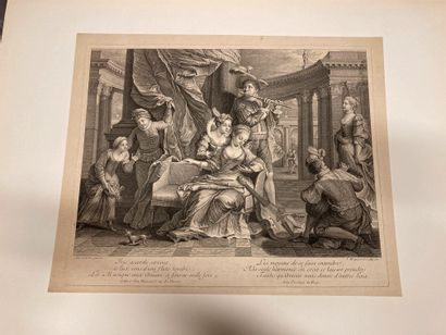 Jacques-François COURTIN (1672-1752) La Musique, Iris accorde sa voix Engraved by...